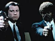 Vincent and Jules Winnfield (Samuel L. Jackson) in their classic pose. This image represents Pulp Fiction on Time's