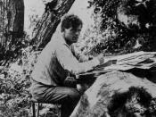 English: Jack London writing 1905