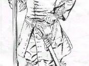 George Woodbridge's drawing of a Bacon's Rebellion soldier in 1675