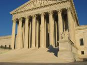 US Supreme Court building, front elevation, steps and portico.