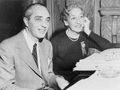 Dorothy Fields & Arthur Schwartz work on score of