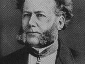 Portrait of a younger Henrik Ibsen, one of the first playwrights to adapt domestic drama into his works.