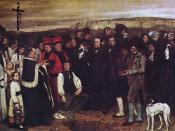 Burial at Ornans (1850, Gustave Courbet , Louvre, Paris).