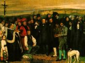 English: Burial at Ornans by Gustave Courbet (1849-1850) Oil on canvas 10' 3 1/2