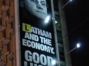The Liberal-National coalition focused heavily on Latham's inexperience during the campaign (in Australia, yellow