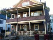 English: Jack Kerouac was born on 9 Lupine Road in Lowell MA, the 2nd floor apartment.