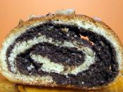 Polish makowiec, Slovak makovník , a nut roll filled with poppy seed paste