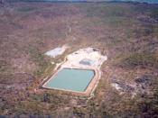 Aerial view of the Ranger 3 Uranium mining site at the Ranger Uranium Mine in Kakadu National Park en