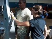 English: Camp Darby's Sports and Fitness Center helps service members stay healthy and in shape at their bi-annual Health and Wellness Fair Sept. 18. The center was recently named Best Sports and Fitness Center for a small garrison in Europe.