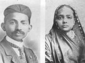 Gandhi and his wife Kasturbhai, 1902.