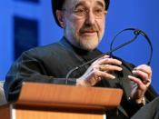 English: Mohammad Khatami, President of the Islamic Republic of Iran (1997-2005) captured during the workspace session 'Rules for a Global Neighbourhood in a Multicultural World' at the Annual Meeting 2007 of the World Economic Forum in Davos, Switzerland