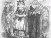 An illustration of Ann Redferne and Chattox, two of the Pendle witches, from Ainsworth's novel The Lancashire Witches, published in 1849. Ann Redferne is called Nance in the novel, and described as Chattox' grand-daughter, although she was in reality her