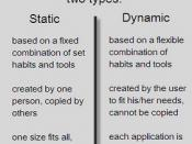 static vs dynamic time management systems