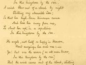 English: The 1849 fair copy of the poem