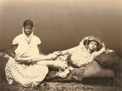 English: Moorish womand and maid