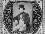 English: 1869 tobacco label portraying Boss Tweed, from http://memory.loc.gov/ammem/today/dec04.html