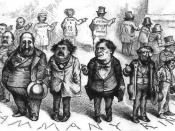 English: Boss Tweed and the Tammany Ring, caricatured by Thomas Nast.