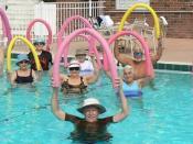 An aqua aerobics class.
