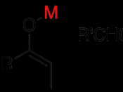 Aldol reaction, highlighting the fate of the metal used to generate the enolate