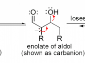 Mechanism for the dehydration step in an aldol condensation reaction