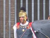 Fake Praetorian Guard at Colosseum (Rome)
