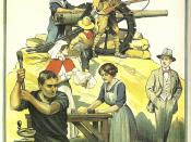 English: A British government poster used during the First World War to promote the war effort.