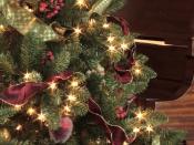 English: An artificial Christmas tree.