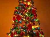 English: A Christmas Tree at Home
