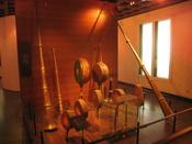 Wind instruments in the Musical Instrument Museum, Brussels, Belgium.