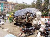 Deutsch: Städtische Müllabfuhr in Kathmandu (Nepal)