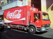 Coca-Cola Amatil delivery truck in Melbourne Australia