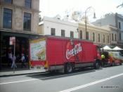 Coca-Cola Amatil truck in Sydney Australia