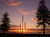 Kurnell Flags at sunset