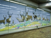 «Barren Ground Caribou» by Joyce Wieland, 1978, in Spadina subway station (TTC), taken with my camera