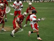 Division I lacrosse game between the University of Denver Pioneers and the Maryland Terrapins (at Maryland)