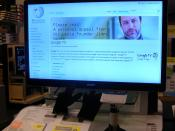English: Sony Internet TV showing Wikiarticle about Google TV. Category:Google TV