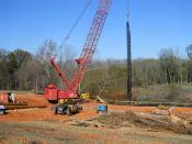 I-85 Corridor Improvement Project - Temporary Work Bridge Construction - Nov. 8, 2010