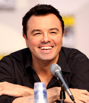 English: Seth MacFarlane at the 2010 Comic Con in San Diego