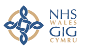 The logo of NHS Wales