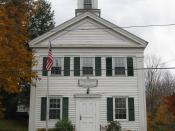 English: Alford Town Hall - Susan Smith Andersen Library, Alford Massachusetts, October 2009