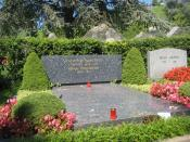the grave of Vladimir Nabokov (Russian-American writer) and his wife Vera Nabokova in Cimetière de Clarens (Switzerland)