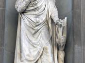 Statue of Dante Alighieri, at Palazzo degli Uffizi, Florence.
