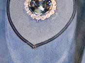 The Hope Diamond, which Switzer helped to acquire for the Smithsonian from Harry Winston in 1958