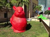 Giant Rabbit Freedom Tower ForEverglades Art Installation