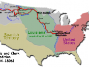 The route of the Lewis and Clark Expedition
