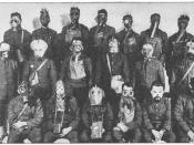 Various types of gas masks used during the first world war.