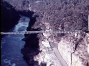 Sydney's Warragamba Dam Pedestrian Suspension Bridge 1974