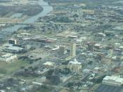 English: Aerial view of Downtown Waco, Texas, looking east.