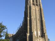 Duke Chapel, a frequent icon for the university, can seat nearly 1,600 people and contains a 5,200-pipe organ.