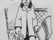 English: Cartoon in 1909 Tyee (yearbook of the University of Washington). Suitcase says